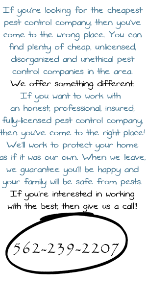 Pest Control of Norwalk sidebar